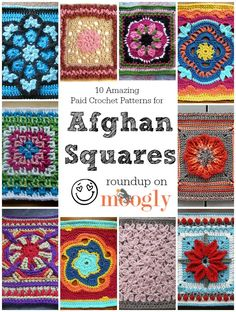 Gorgeous #crochet afghan squares!