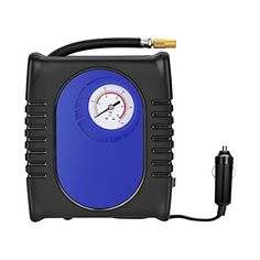 PortableTire Inflator GRANDTAU Air Compressor 150 PSI 12V DC Auto Pump 3 Nozzle Adaptors 25ft Air Hose 98ft Cord with Cigarette Plug for Tires Balls and Inflatable Objects ** Check out the image by visiting the link.