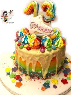 Reinbow , Drip , cake
