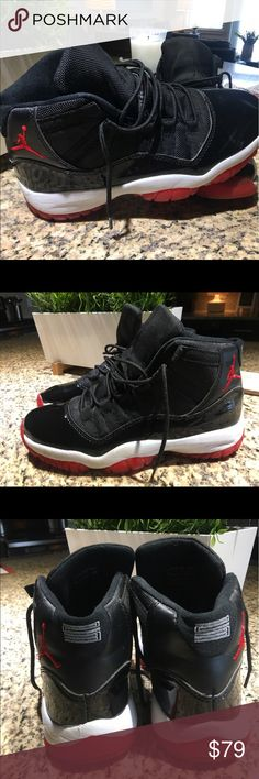 Air Jordan Retro 11 Kids size 7. Only worn twice! Air Jordan Shoes Sneakers