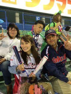 Rei and her friends of watching Tokyo Yakult Swarrows Japanese baseball team.