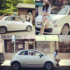 Fiat 500 & Carly Rae Jepsen Attractive girl & Charminng car
