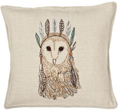 My Owl Barn: Coral and Tusk: Pillows