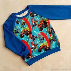 Купить Свитшот Вспыш - комбинированный, синий, вспыш, свитшот, свитшот детский, свитшот из трикотажа