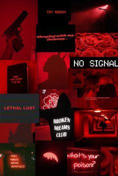 Red And Black Wallpaper, Emo Wallpaper, Bad Girl Wallpaper, Wallpaper Iphone Neon, Aesthetic Desktop Wallpaper, Cartoon Wallpaper, Red Aesthetic Grunge, Neon Aesthetic, Aesthetic Collage