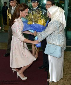 Catherine, Duchess of Cambridge upon arrival in Singapore. September 11, 2012.