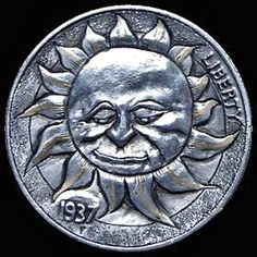 Jewelry and unusual carvings by Shamey Metalcraft Hobo Nickel, Coin Art, Effigy, Old Coins, Art Forms, Metal Art, Sculpture Art, Folk, Jewelry Making