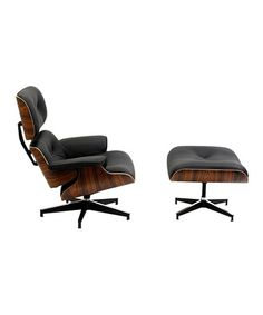 Black Palisander Eaze Lounge Chair & Ottoman