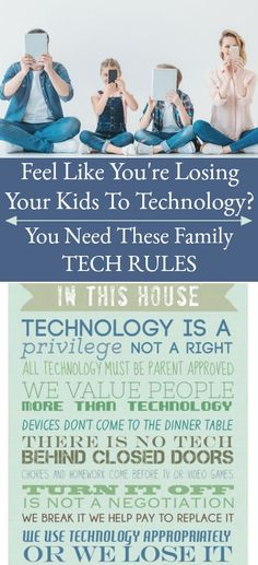 awesome Do You Feel Like You Are Losing Your Kids To Technology? You can help them disconnect from tech and reconnect to you by setting family technology rules. via Sunshine and. Parenting Styles, Parenting Books, Parenting Teens, Kids And Parenting, Parenting Classes, Foster Parenting, Peaceful Parenting, Parenting Plan, Parenting Articles