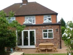 single storey extension with light well