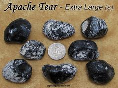 Apache Tear (XL extra large-S) raw rough stone for crystal healing (Obsidian Apache Tears) Maserati, Healing Stones, Crystal Healing, Apache Tears, 3d Printed Jewelry, Amethyst Crystal, Unique Earrings, Stone Jewelry, Stones And Crystals