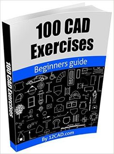 100 CAD Exercises - Learn by Practicing!: Learn to design and Models by Practicing with these 100 CAD Exercises! , 100 CAD Exercises - Learn by Practicing!: Learn to design and Models by Practicing with these 100 CAD Exercises! Mechanical Engineering Design, Mechanical Design, Bloc Autocad, Autocad 2016, Electrical Engineering Books, Learn Autocad, Solidworks Tutorial, Cad Software, Cad Design Software
