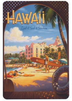Vintage Summer Postcards | Mademoiselle B: Vintage Style Postcards from Hawaii