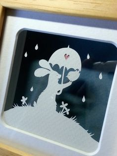 The Rain - Original Papercut by PaperPandaCuts on DeviantArt
