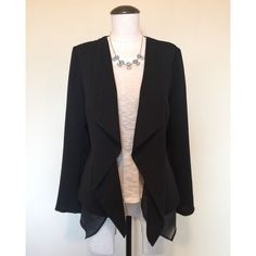 ⚡️SALE⚡️Drape (Black) Blazer sz S NWOT Drape (Black) Blazer sz S NWOT▪️It has a little bit of sheer material draping in the front underneath. The top and necklace are NOT included, sold separately.                                         NO TRADES NO PAYPAL Mossimo Supply Co Jackets & Coats Blazers