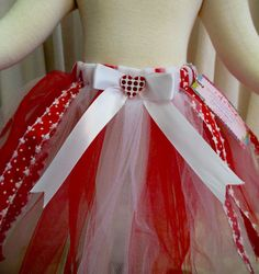 Adorable Valentine Tutu Set  Tutu and matching Hair by cd1ofakind, $23.00