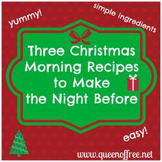 Save time and money on Christmas morning! Check out these affordable and delicious recipes.