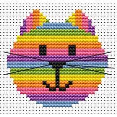 Sew Simple Cat Head Cross Stitch Kit from Fat Cat Cross Stitch from £7.75