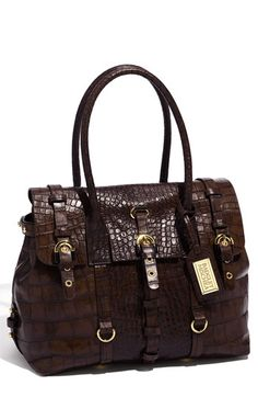 this is a great looking bag now on sale for $334.90.  rich looking croc embossed leather. at nordstrom.