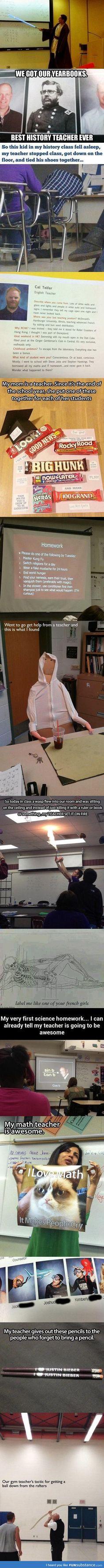 Teachers with a sense of humor