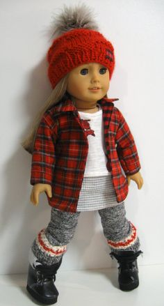 American Girl Doll Clothes Woodland Cozy by 123MULBERRYSTREET (sock crafts american girls)