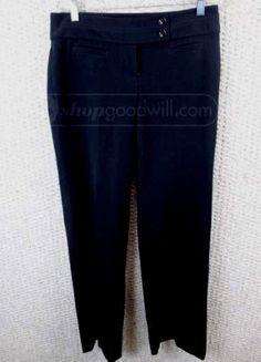 White House Black Market Ladies Black Dress Pants  Boot Cut Size Size 4R #WhiteHouseBlackMarket #DressPants