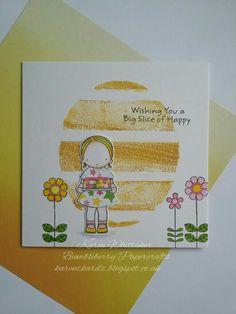 Happy Cake Day and Doodled Blooms from Bumbleberry Papercrafts  #bumbleberrypapercrafts #happycakeday #doodledblooms #mft #distressoxides #kuretakezig #stamping #stamps #cardmaking #cards #craft #creative #ilovetocraft