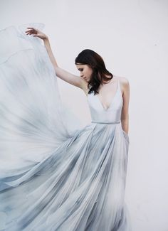the Raincloud #weddingdress by Leanne Marshall