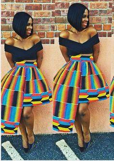 cewax.fr aime cette jupe en kente afropunk, ethno tendance, style ethnique. Dans le même style, visitez la boutique de CéWax : cewax.alittlemark... #Africanfashion, #ethnotendance