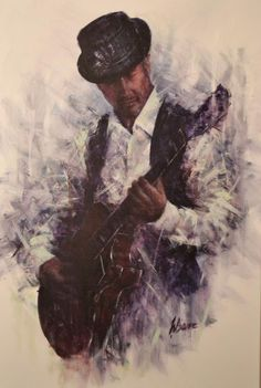 """Leading contemporary artist Remi LaBarre describes his evocative oils as """"painted songs"""". Canadian Painters, Music Painting, Guitar Art, Black Art, Contemporary Artists, Art Gallery, Illustration Art, Fine Art, Drawings"""