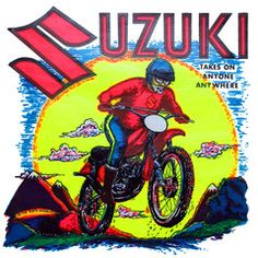 Vintage Iron-On/Suzuki Sunset