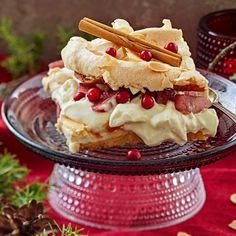Jouluinen britakakku   Leivonnaiset   Yhteishyvä Zucchini Chips, Christmas Treats, Christmas Baking, Xmas Food, Strawberry Smoothie, Dessert Recipes, Desserts, Food Inspiration, Sweet Recipes