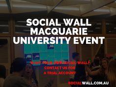 SOCIAL WALL MACQUARIE UNIVERSITY EVENT #DigitalSignage, #MacquarieUniversity, #SocialMedia, #SocialWall, #University - http://socialwall.com.au/social-wall-macquarie-university-event/
