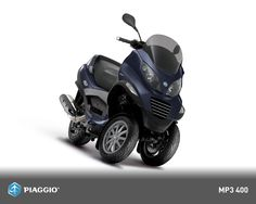 My current ride, a Piaggio MP3 400cc. Color: Excalibur Gray. Code name: Merlin.