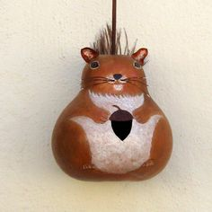 birdhouse gourds | Gourd Squirrel Birdhouse by GourdArtbyCyndee on Etsy