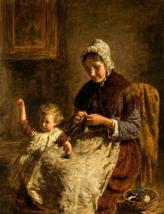 Grandmother's Pet - William McTaggart (1835 – 1910, Scottish)