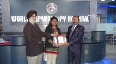 Dr. Ranjitha G. receiving certificate of Fellowship in minimal access Surgery at World Laparoscopy Hospital. For more detail please log on to www.laparoscopyhospital.com