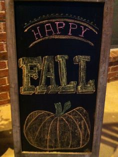 Fall chalkboard design, autumn
