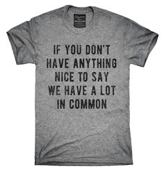 If You Don't Have Anything Nice To Say We Have A Lot In Common Shirt, Hoodies, Tanktops