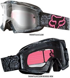 Fox Racing Main Tarantula Women's Goggles « Motorcycle Rider Gear Orange County Street Sport Dirt Offroad ATV Parts, Gear & Accessories Mine ❤ Motocross Gear, Motorcycle Gear, Atv Gear, Bike Helmets, Dirt Bike Girl, Atv Riding, Riding Gear, Triumph Motorcycles, Ducati