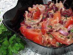 Salată de ton cu fasole roşie Shrimp, Stuffed Peppers, Fish, Meat, Vegetables, Beef, Stuffed Pepper, Veggies, Veggie Food