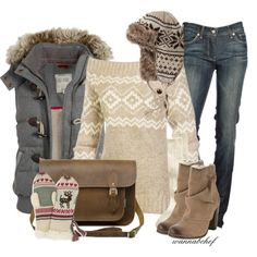 A fashion look from November 2012 featuring Fat Face vests, 7 For All Mankind jeans and Gap socks. Browse and shop related looks.