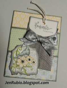 CTMH Fabulous You stamp set and Chantilly paper