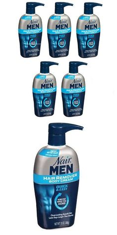 Hair Removal Creams and Sprays: 5 Pack - Nair Men Hair Removal Body Cream 13 Oz (368 G) Each BUY IT NOW ONLY: $50.2
