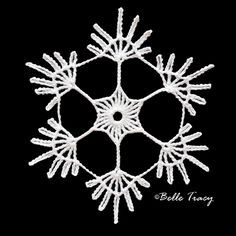 Breathtaking Crochet So You Can Comprehend Patterns Ideas. Stupefying Crochet So You Can Comprehend Patterns Ideas. Free Crochet Snowflake Patterns, Christmas Crochet Patterns, Crochet Snowflakes, Tatting Patterns, Christmas Knitting, Diy Christmas Snowflakes, Crochet Christmas Decorations, Crochet Ornaments, Christmas Tag