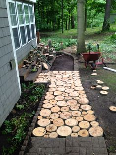 1000 images about rustic log slice walkway on pinterest for 64 rustic terrace bristol ct