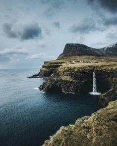 "grace–upon–grace: "" Gásadalur, Faroe Islands, Guerel Sahin "" Landscape Photography, Nature Photography, Travel Photography, Places To Travel, Places To Go, Faroe Islands, Adventure Is Out There, Beautiful Landscapes, Land Scape"