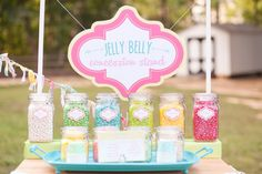 Up close jelly belly cart