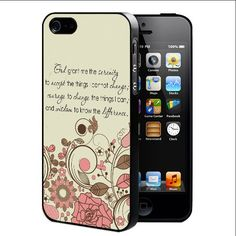 Cute Pink Floral Vector with God Serenity Courage Quote (iPhone 4/4s) Hard Snap on Phone Case Cover. Designs will be printed directly onto the metal part on the back of the case via latest sublimation technology. THIS IS NOT A DECAL OR SKIN. MODEL COMPATIBILITY: Fits T-Mobile, AT&T,Verizon, Sprint. ACCESS: Full access to all functions (buttons, ports, front and rear camera, and flash).
