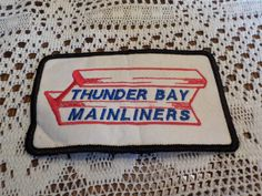 Thunder Bay Mainliners Trains Railways Railroads Patch Applique Crest Logo by LouisandRileys on Etsy